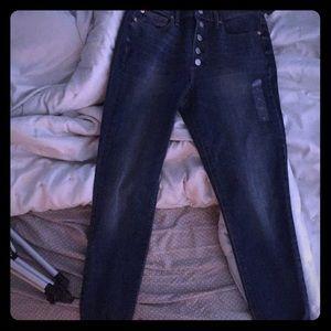 Super high rise true skinny jeans